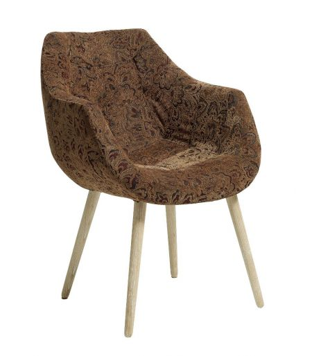 Chair brown flowers patterns Nordal