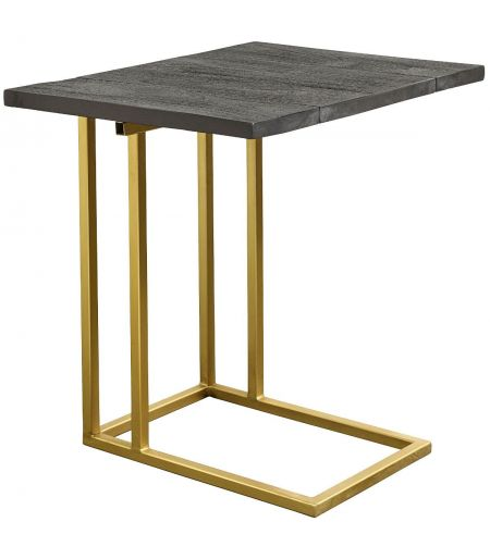Small table black wood & brass Nordal