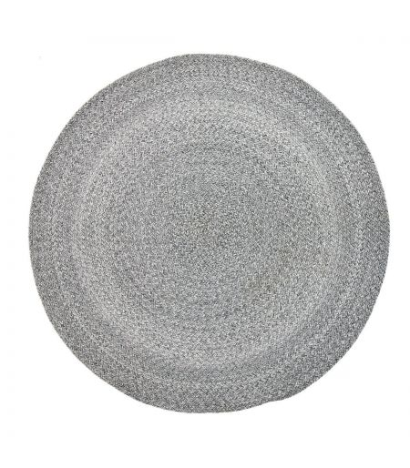 Rug round gray Bloomingville