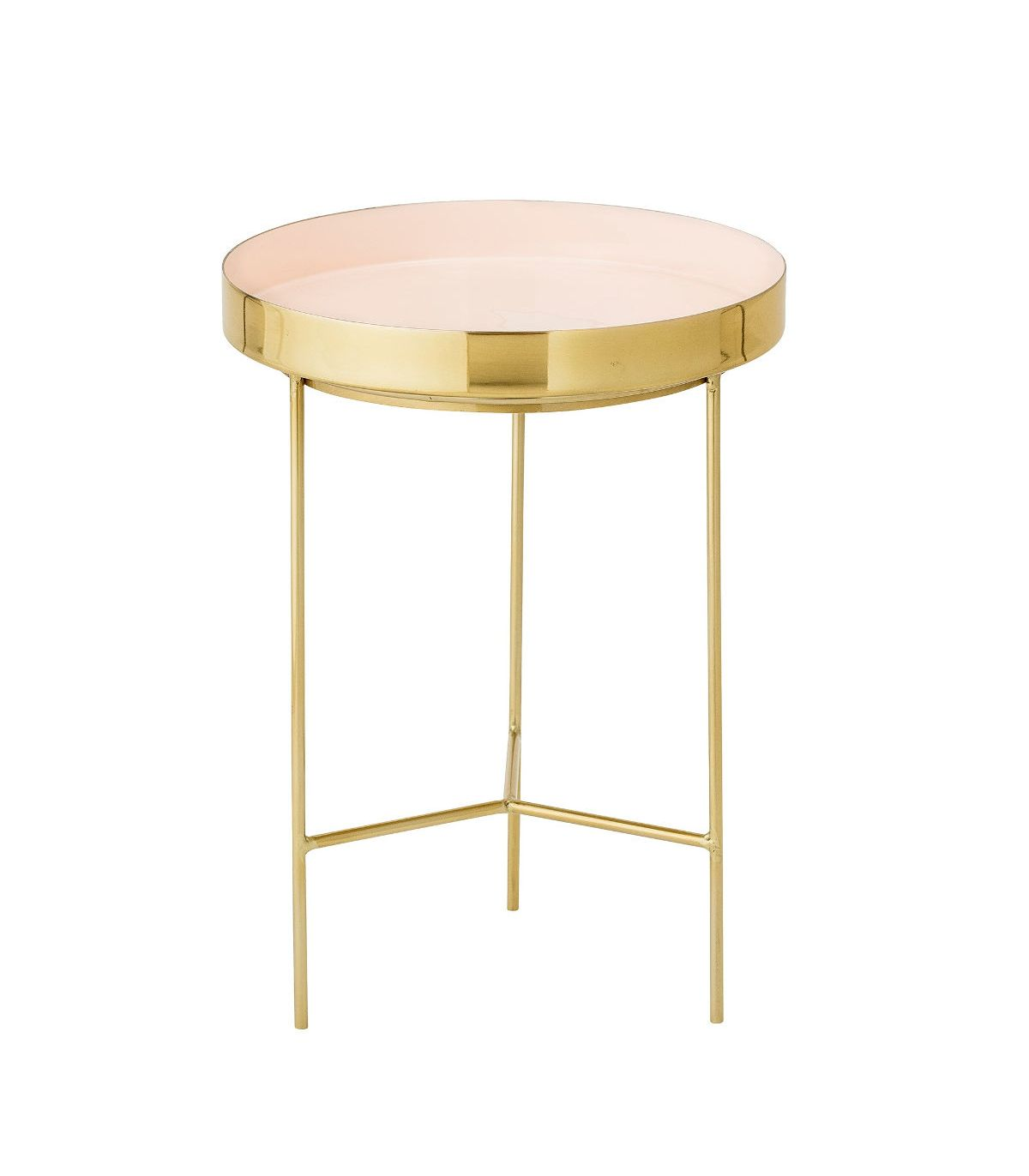 Table basse laiton rose bloomingville for Table basse scandinave rose