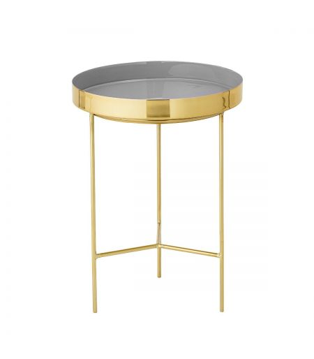 Coffee Table brass & gray Bloomingville