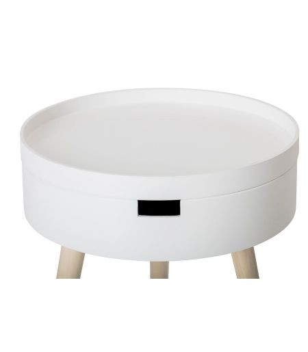 Coffee Table white & wood Bloomingville