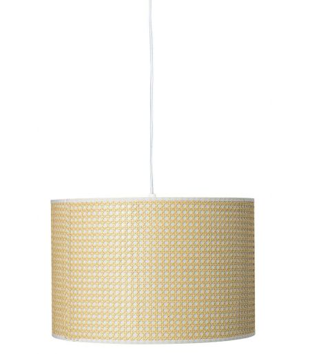 Suspension blanche & bambou Bloomingville