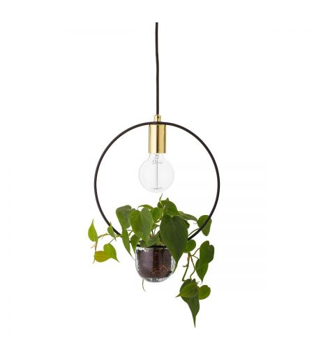Suspension pot laiton cercle Bloomingville