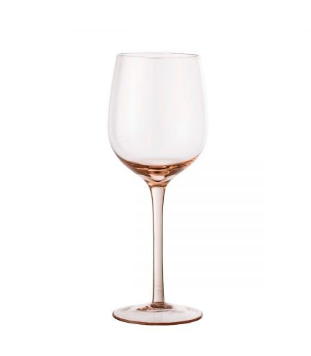 Wine glass pink color Bloomingville X6