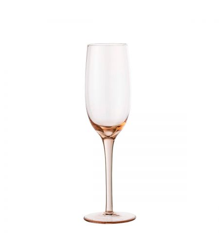 Glass champagne pink Bloomingville X6