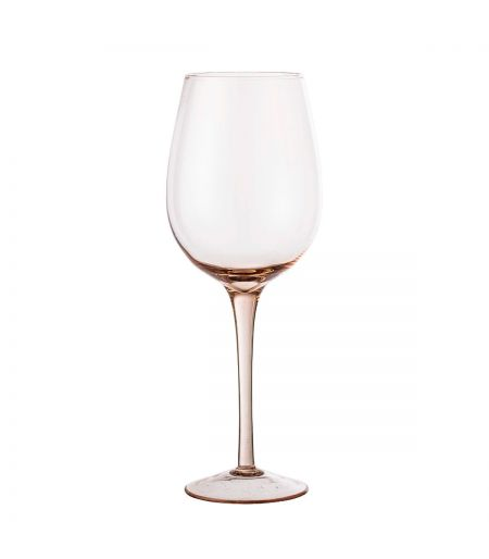 Large wine glass pink color Bloomingville X6