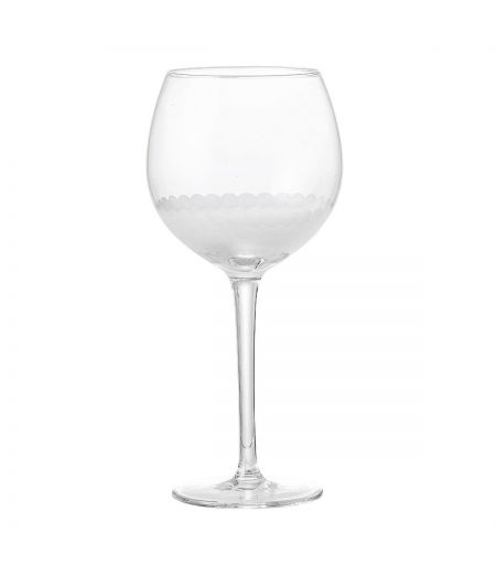 Wine glass-gray background Bloomingville X6