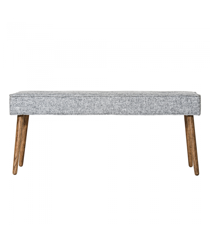 Light gray wool bench Bloomingville