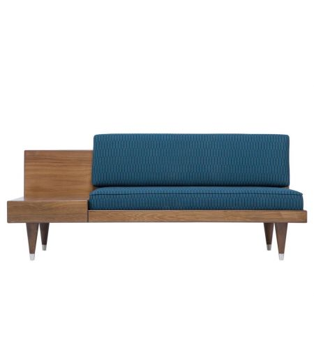 Bench BI Back wool blue Loveseat Kann