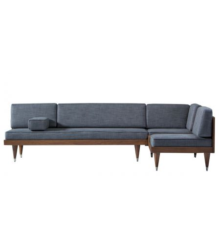 Sofa Bi Back L light grey Kann