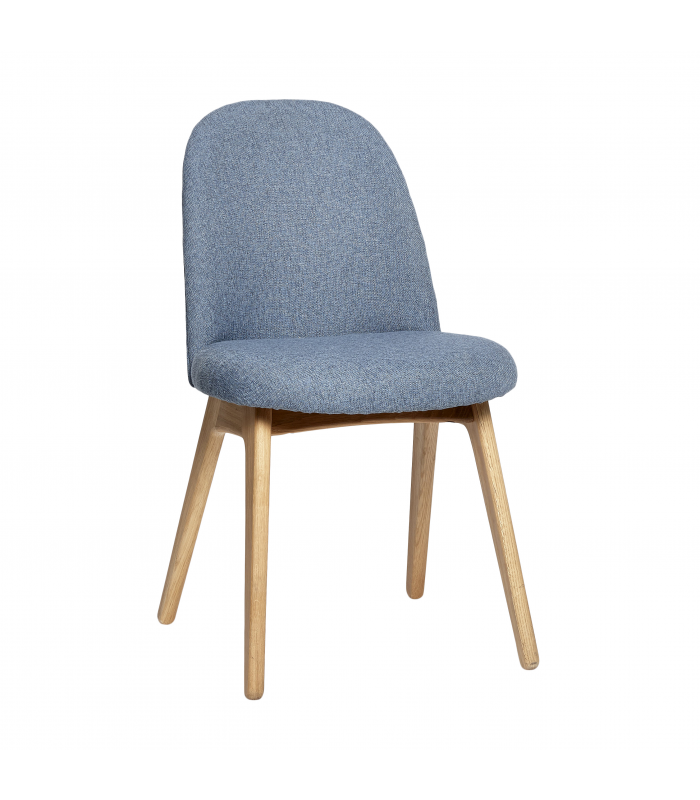 Blue chair with wooden legs Hubsch