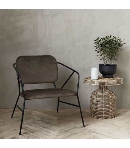 Chaise marron Klever House Doctor