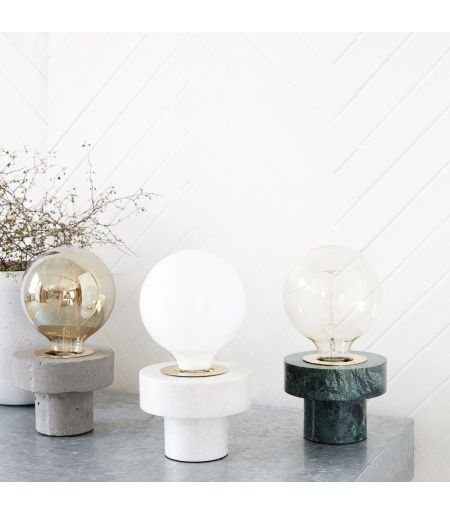 Table lamp marble, green House Doctor