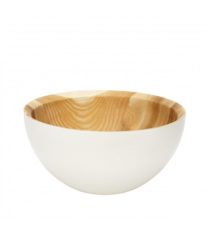 White wooden bowl and natural Hubsch