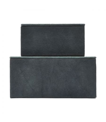 Set of 2 boxes Suede blue House Doctor