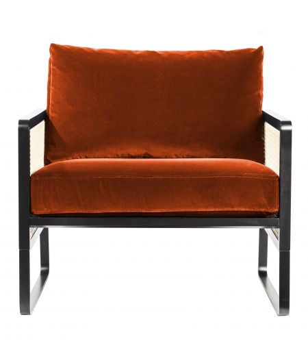 Fauteuil Cannage velours fox Red Edition