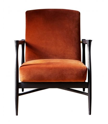 Fauteuil Floating velours fox Red Edition