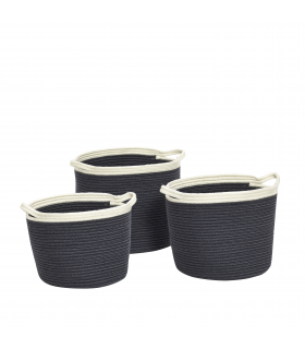 White and blue baskets marine 28xh23 33xh26 35xh28c Hubsch
