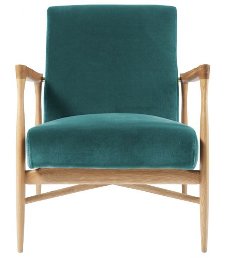 Fauteuil Floating velours bleu canard Red Edition