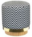 Stool Stool print fabric zebra Red Edition