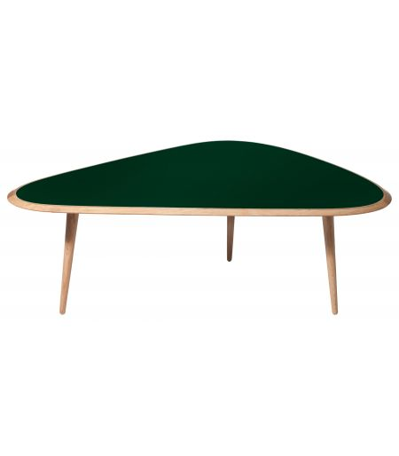 Table basse large laqué vert profond Red Edition