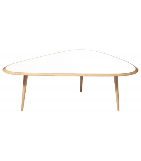 Table basse large laqué blanc Red Edition