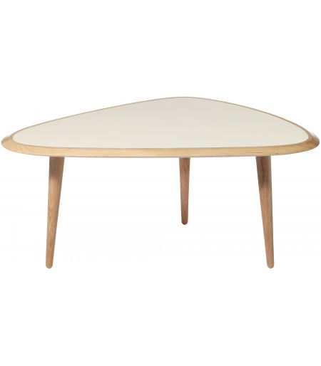 Coffee Table small lacquer cream Red Edition
