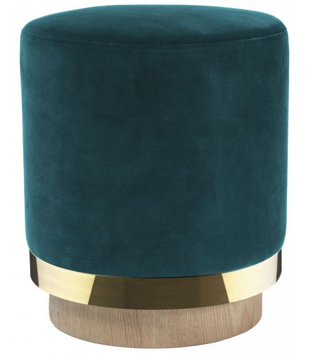 Stool Stool velvet duck blue Red Edition