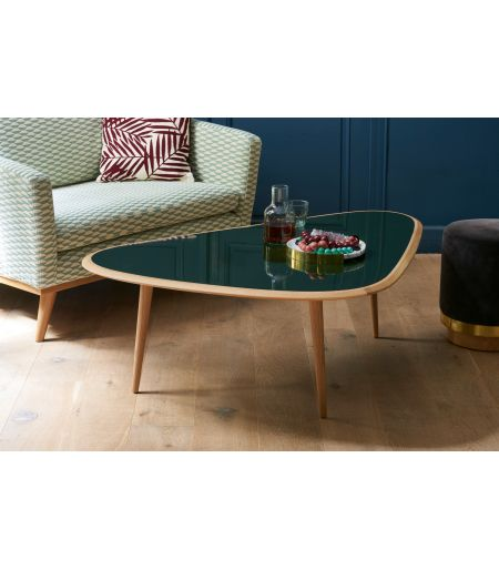 Table basse small laque crème Red Edition