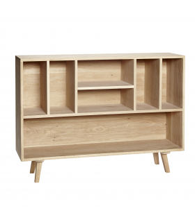 Oak dresser in 7 120x30xh86cm compartments Hubsch