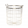 Gold metal basket Hubsch