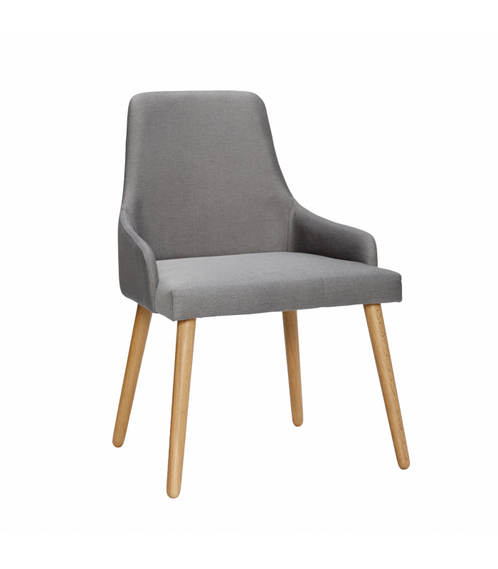 Gray oak chair legs Hubsch