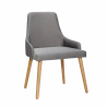 Func gray chair with legs in oak Hubsch
