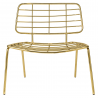 Mesh chair wide gold BLOOMINGVILLE