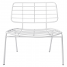 Mesh wide white chair BLOOMINGVILLE