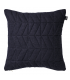 Navy quilted cushion and gold Bloomingville