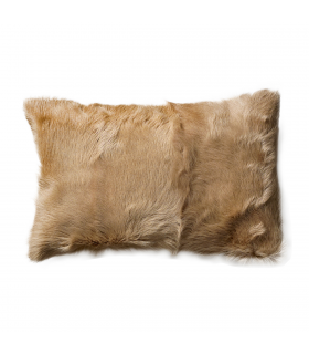 Coussin rond en fourrure d'agneau Bloomingville