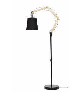 Natural and black floor lamp Hubsch