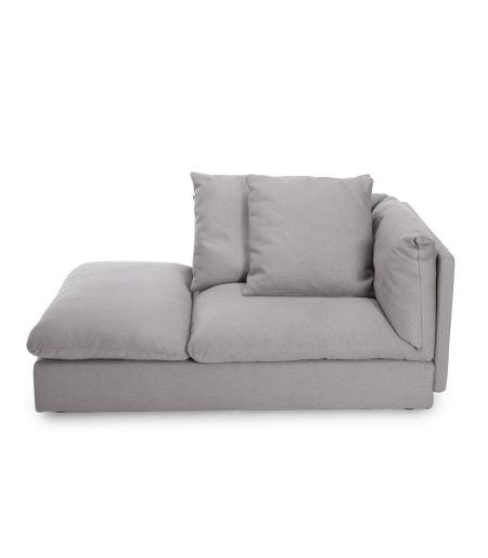 Sofa Macchiato chaise right light grey Norr11