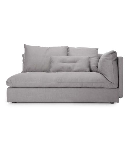 Sofa Macchiato left side light gray Norr11