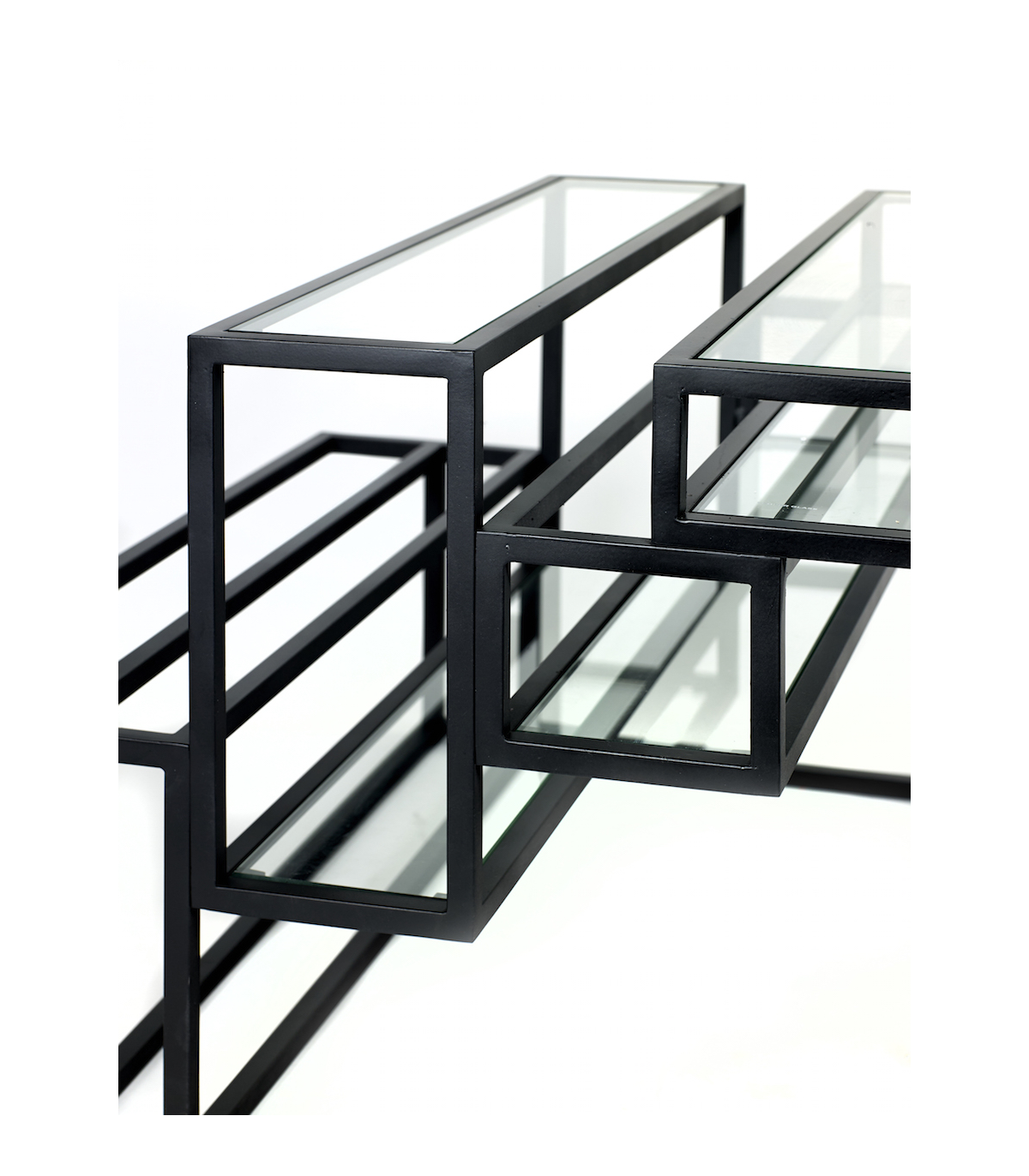 Table basse en m tal et verre serax frenchrosa - Tables basses en verre ...