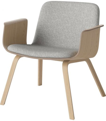 Palm lounge chair wool/oak Bolia
