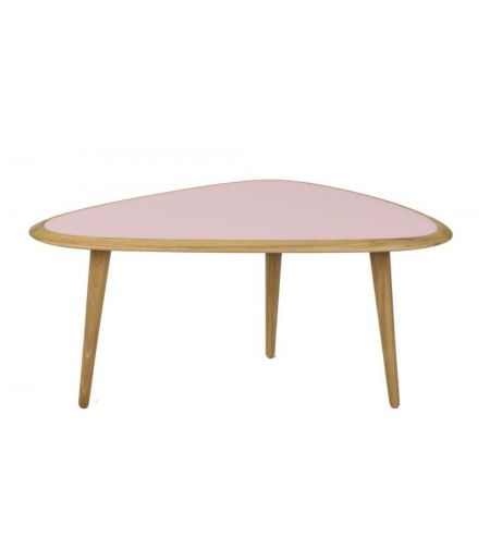Table basse small laqué rose Red Edition