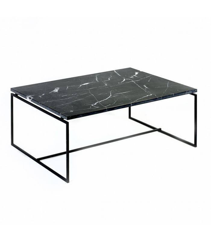 Table nero en marbre noir serax - Tables basses noires ...