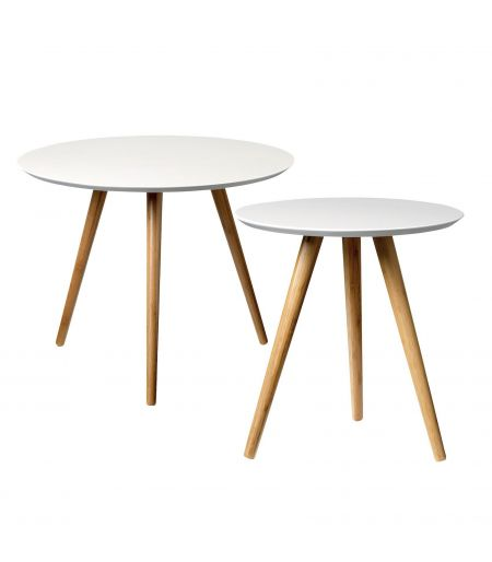 Gray low bamboo tables Bloomingville (set of 2)