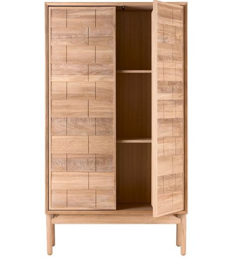 Clinkers highboard white oak Bolia