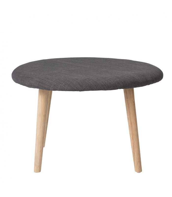 Stool light gray wool Bloomingville