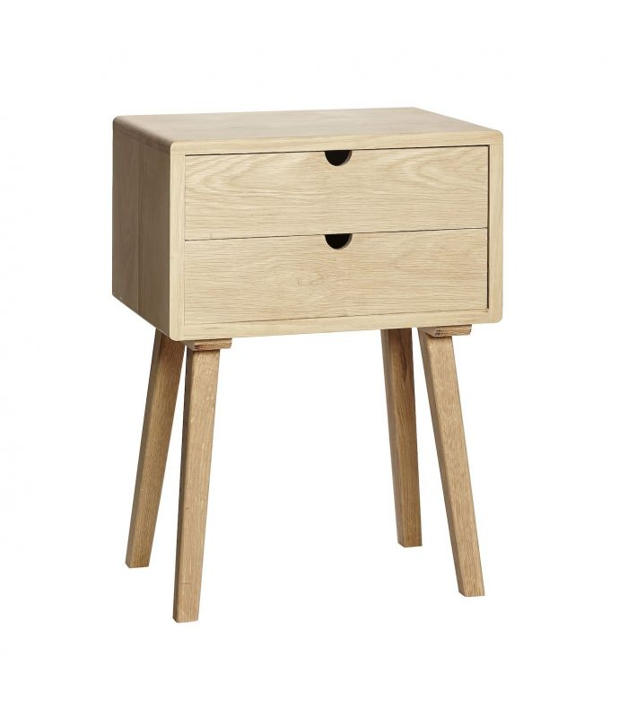Dresser w 2 drawers & Nature oak door 90x40xh70cm Hubsch
