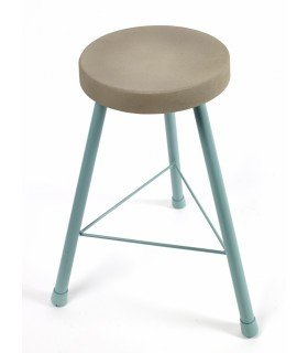 Feeling blue concrete stool Serax